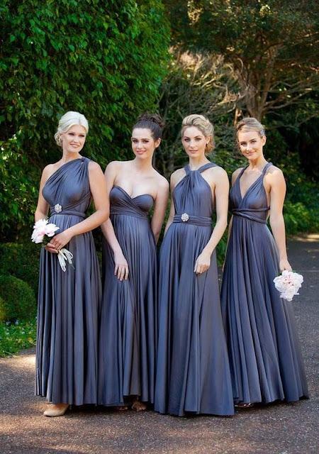 Convertible Long Bridesmaid Dresses By Goddess by nature