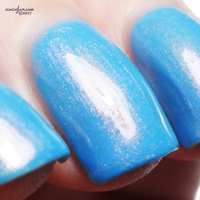 xoxoJen's swatch of KBShimmer Peach For The Sky