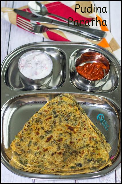 Mint Paratha Recipe | Pudina Paratha Recipe