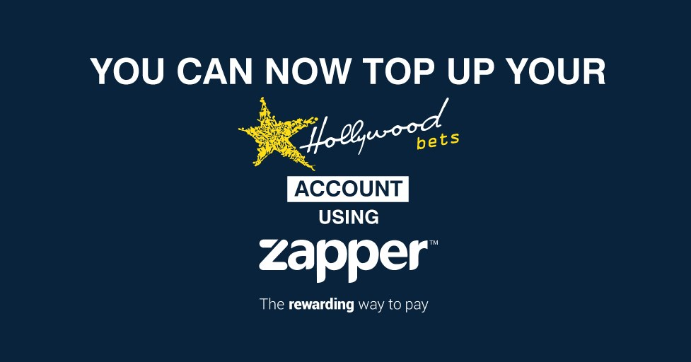 Top up your Hollywoodbets account using Zapper - The rewarding way to pay