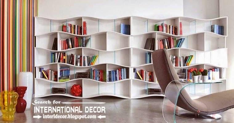 top modern home library design organizing ideas furniture, modern wall shelves with seat