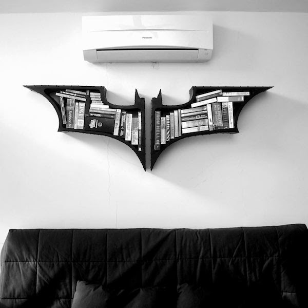 Batman Wall Book Shelf Design