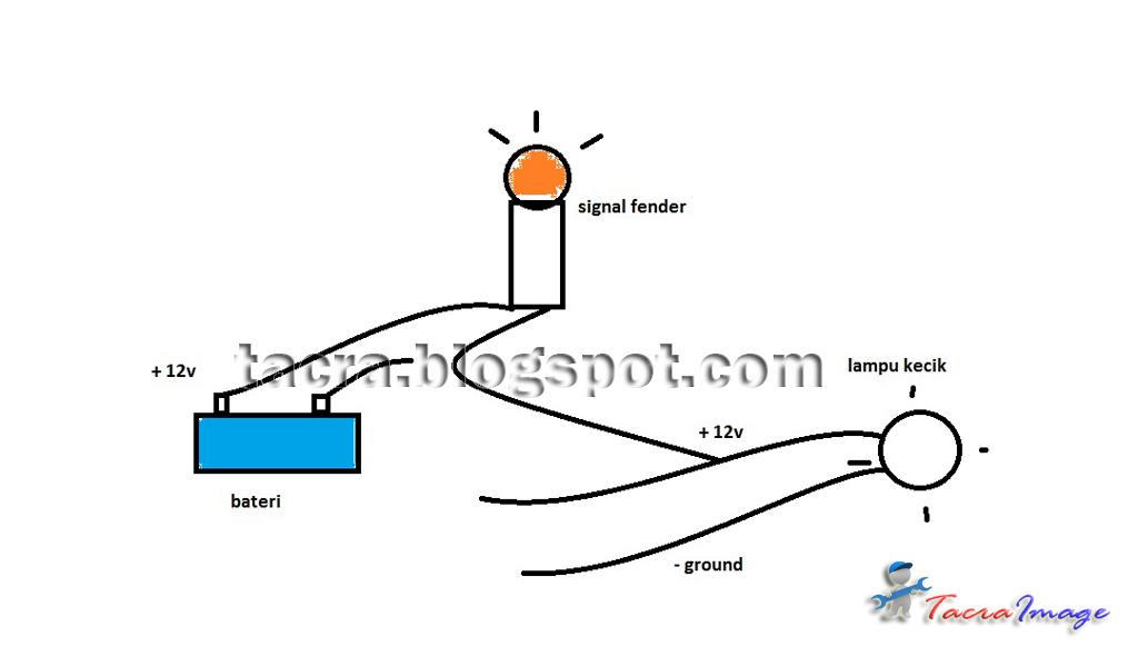 cara wiring lampu signal kereta