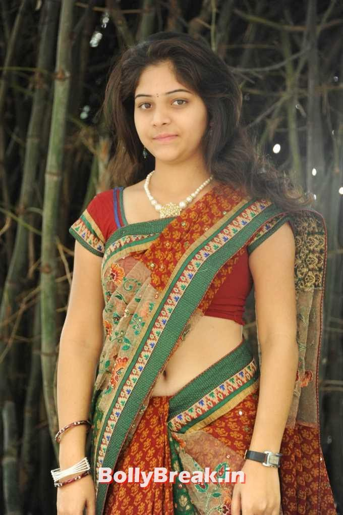 , South Heroine Nabhi Pics in Low Waist Saree