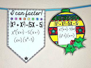 Fun with Quadratics | factoring quadratics ornaments