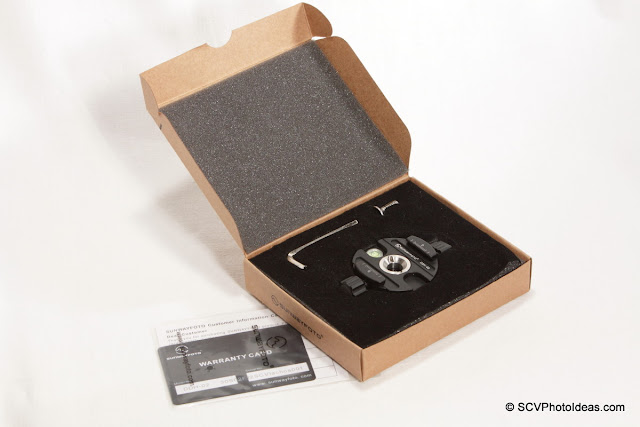 Sunwayfoto DDH-02 Panning Clamp in box overview