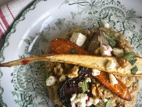 Baked Root Vegetables Risotto