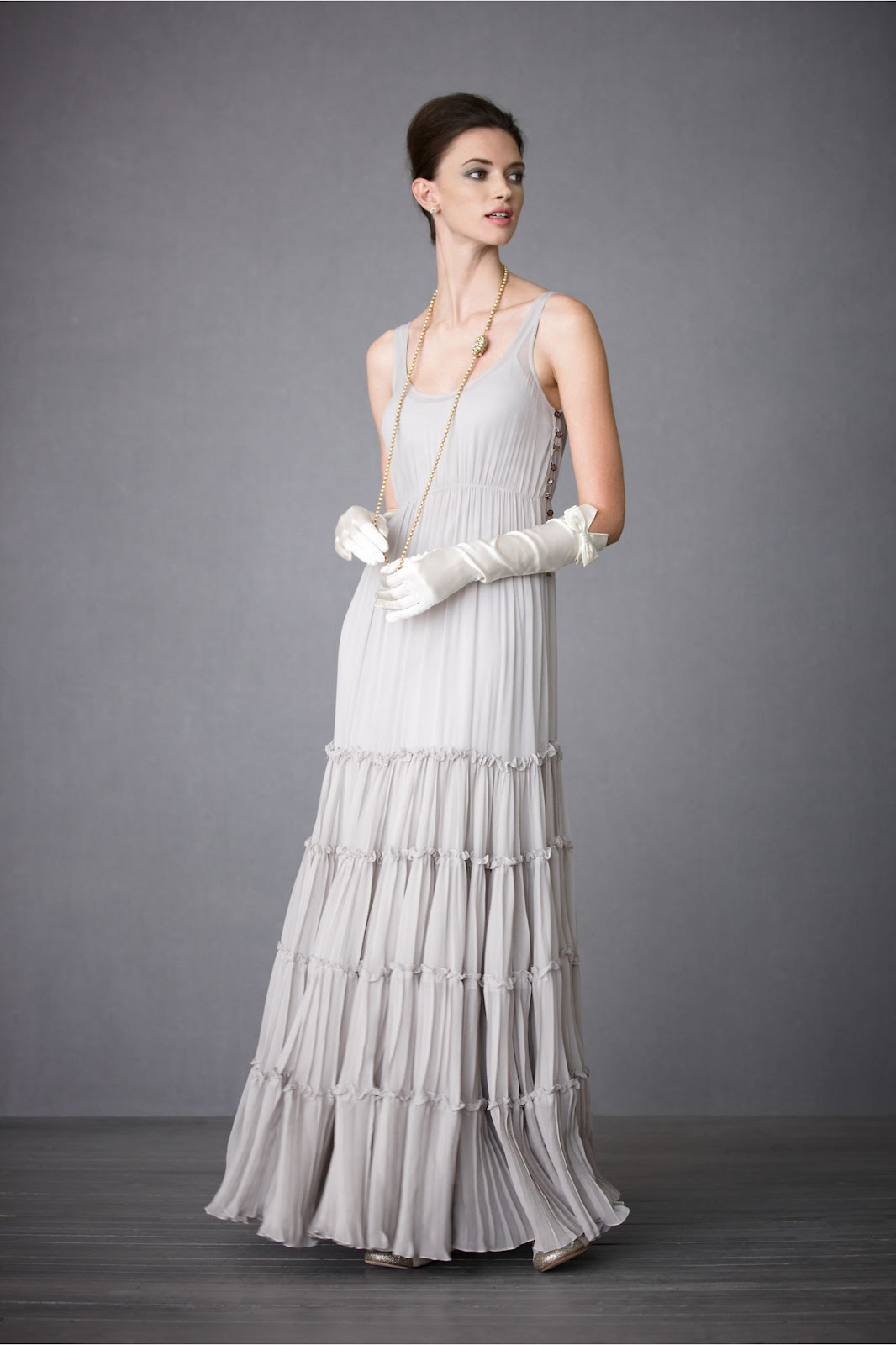 Via for Period style wedding dresses