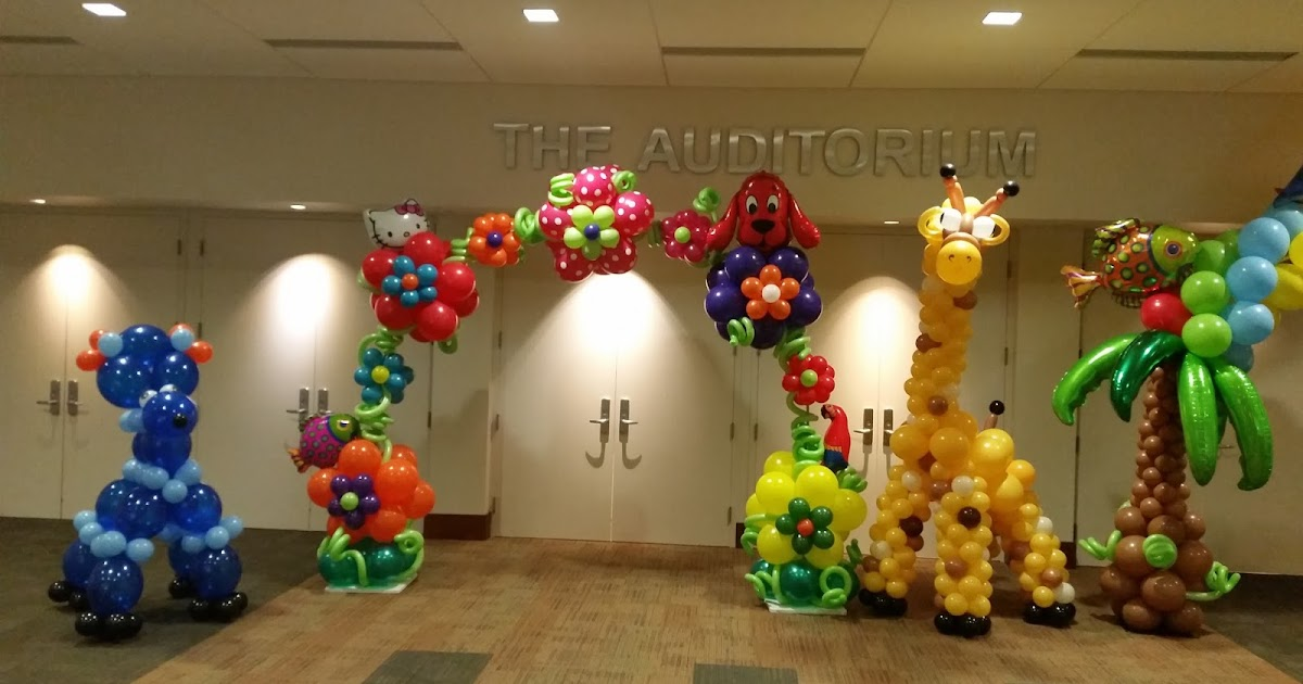 Dreamark events blog tropical themed balloon decoration ideas for Balloon decoration for corporate events