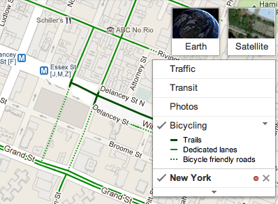 Google Lat Long: New Biking Directions Legend