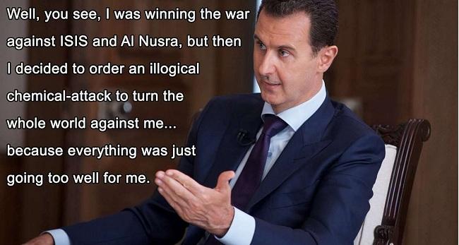 «Νίκησα ISIS και Al Nusra γιατί να ρίξω χημικά»; Το ερώτημα Άσαντ στο οποίο κανείς δεν απαντά
