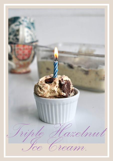 A Simple birthday gift of Hazelnut Ice cream.