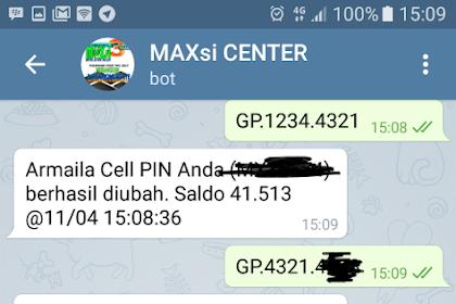 Cara ganti PIN Transaksi Pulsa Maxsi Reload Trx Ku