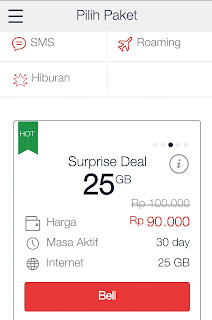Paket Murah 25 GB Surprise Deal
