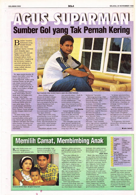 LIGA INDONESIA 1998 PROFIL AGUS SUPARMAN