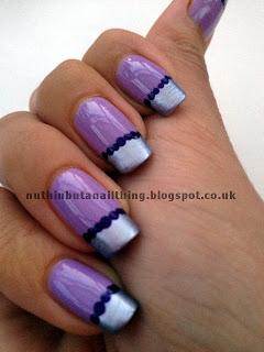 purple french manicure