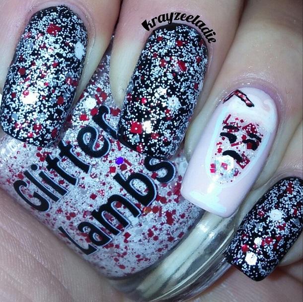 Custom handmade Christmas glitter topper nail polishes for the holiday season! Cool polish for your nails!