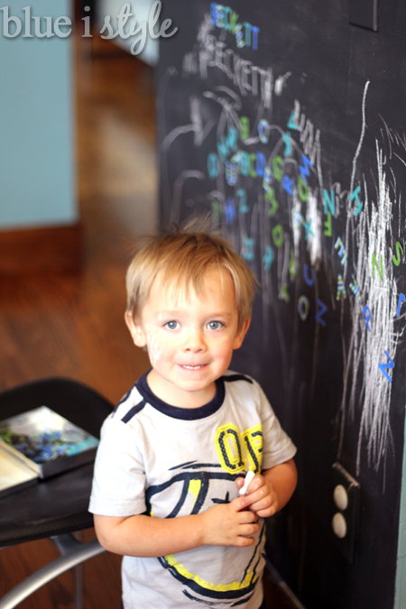 how to clean a chalkboard wall with coke