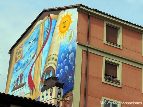 Erase  una vez el voluntariado, murales de Vitoria, País Vasco