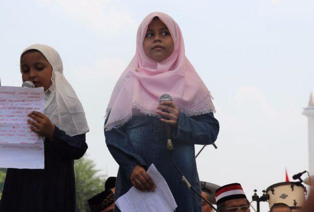 Gadis Kecil Rohingya di Aksi 169: Selamatkan Saudara Kami di Myanmar