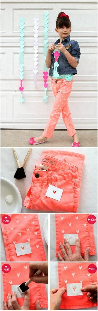 Best DIY Ideas: DIY Painted Heart on your Jeans