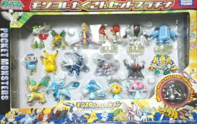 Azelf figure Tomy MC Platinum 18pcs set