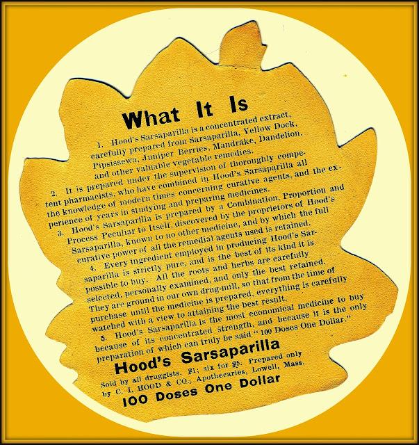 advertising text for Hood's Sarsaparilla