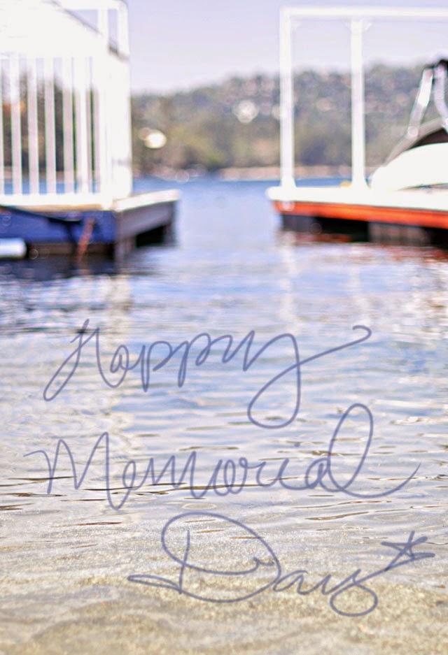 Happy Memorial Day, docks on the lake