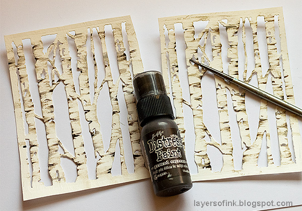 Layers of ink - Birch Forest December Daily Tutorial by Anna-Karin Evaldsson.