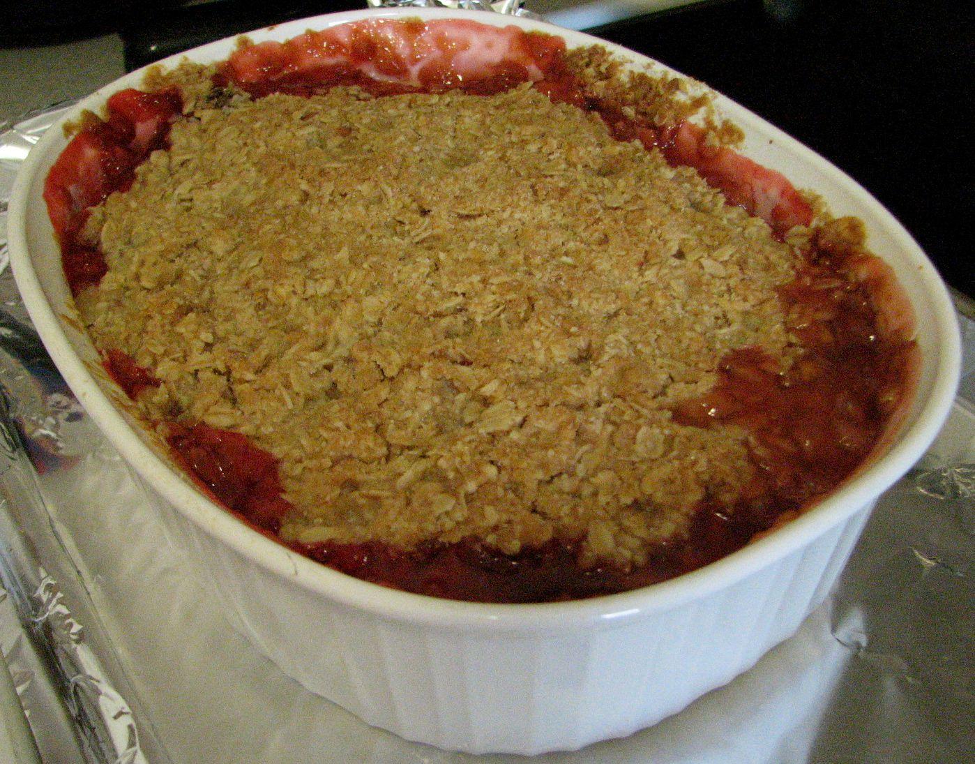 Shel S Kitchen Strawberry Rhubarb Crisp