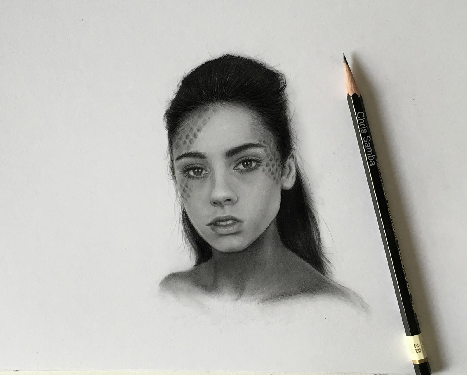 Pencil sketch portrait from photo