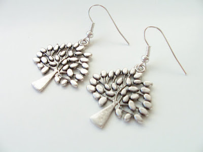 Metal Tree Earrings