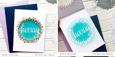 Die cut wreath Window card   - Daria Grushina