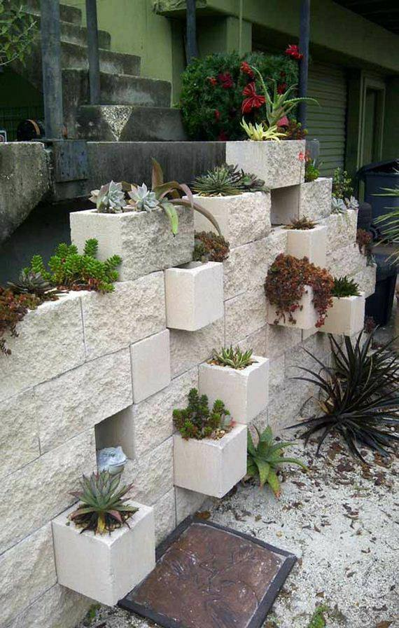 Creative DIY Cinder Blocks Ideas For Amazing Backyard ... on Backyard Cinder Block Wall Ideas id=60729