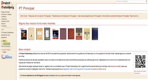 O site Projeto Gutenberg possui um grande repositório de livros digitais em PDF na Internet