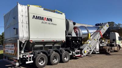 Usina da Ammann produzida no Brasil é referência de versatilidade em obras rodoviárias nos EUA
