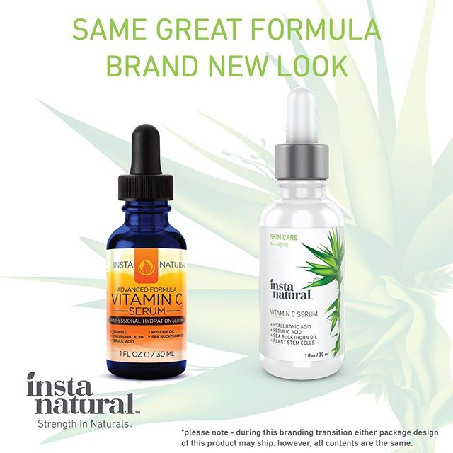 New look of Insta Natural Vitamin C serum