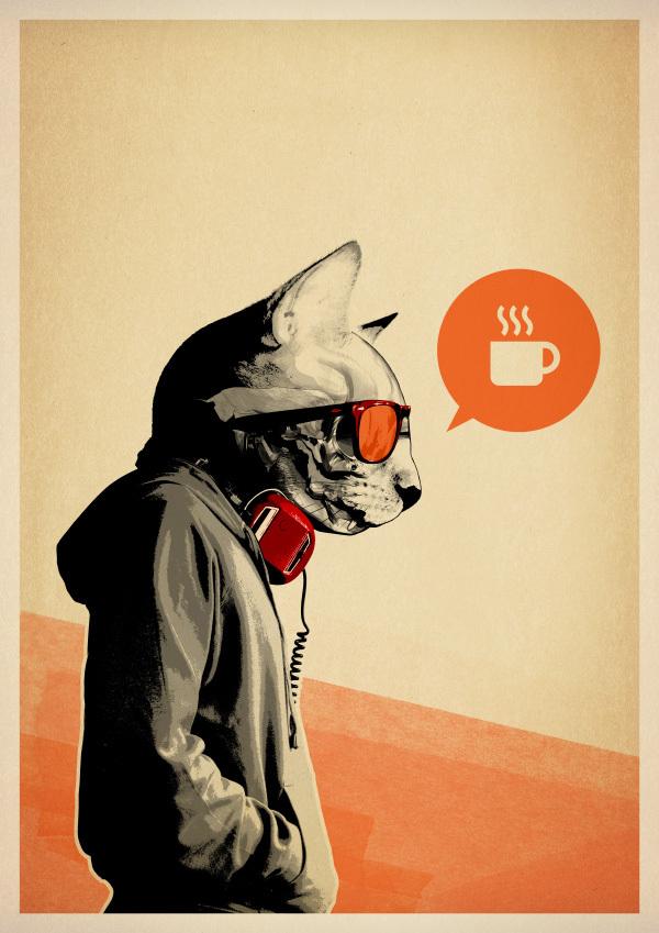 ちょいワル猫が気になるイラストレーター:Rhys Owens | Sideways