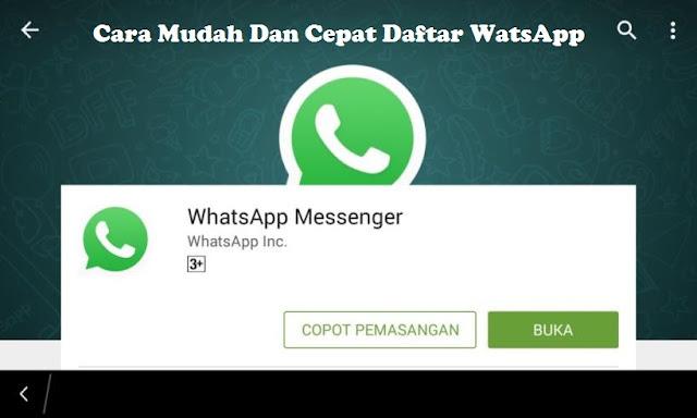 √ Cara Mudah dan Cepat Daftar WhatsApp di Android 2018