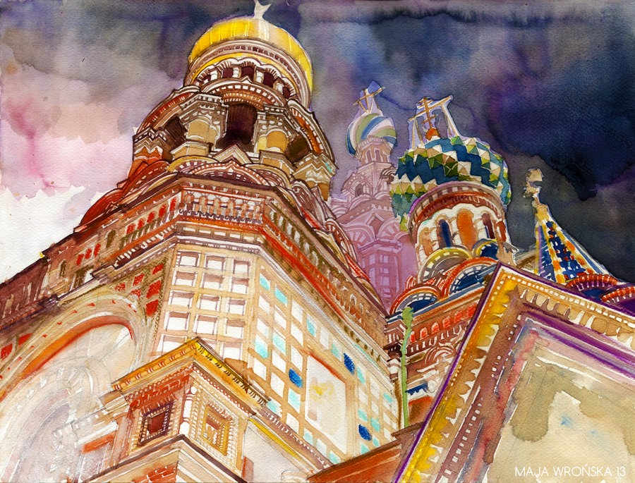 21-Saint-Petersburg-Maja-Wronska-Travels-Architecture-Paintings-www-designstack-co