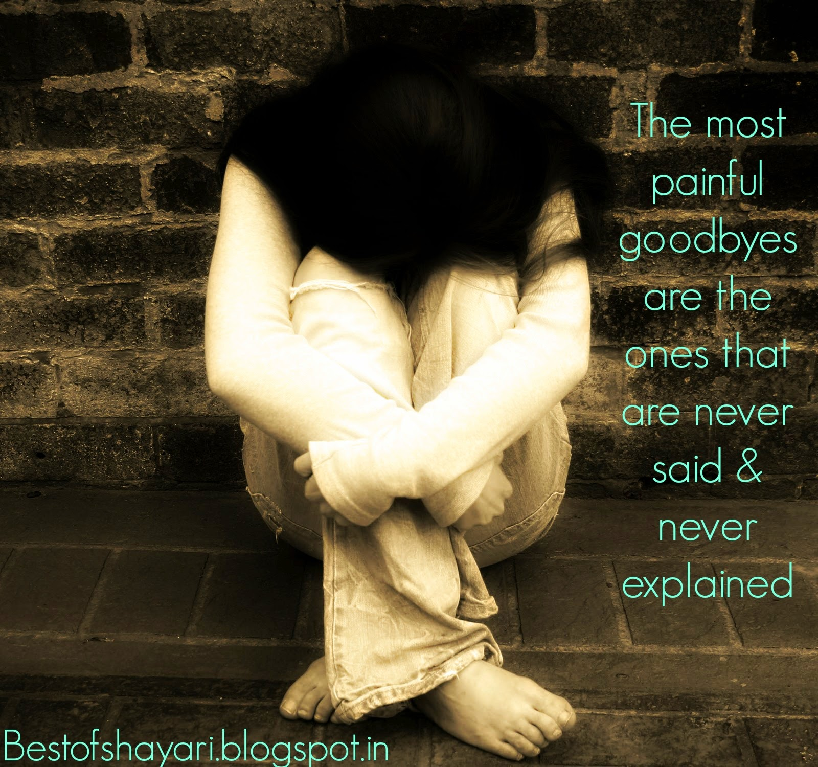sad love picture quotes of crying girl