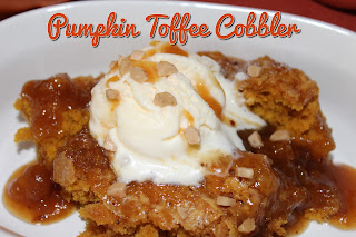 Pumpkin Toffee Cobbler