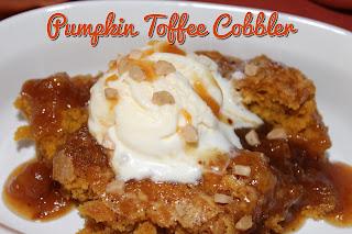 Pumpkin Toffee Cobbler