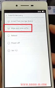 wipe data oppo