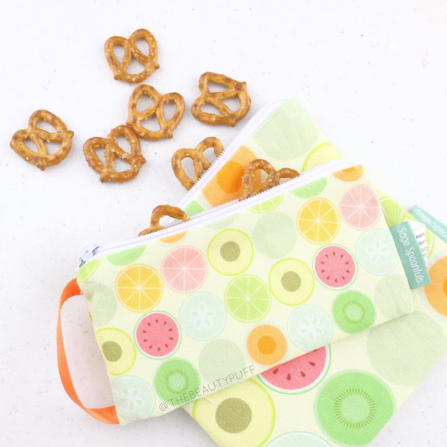 Sage Spoonfuls Snackie and Munchie Bag  |  The Beauty Puff