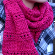 pink scarf knitting pattern