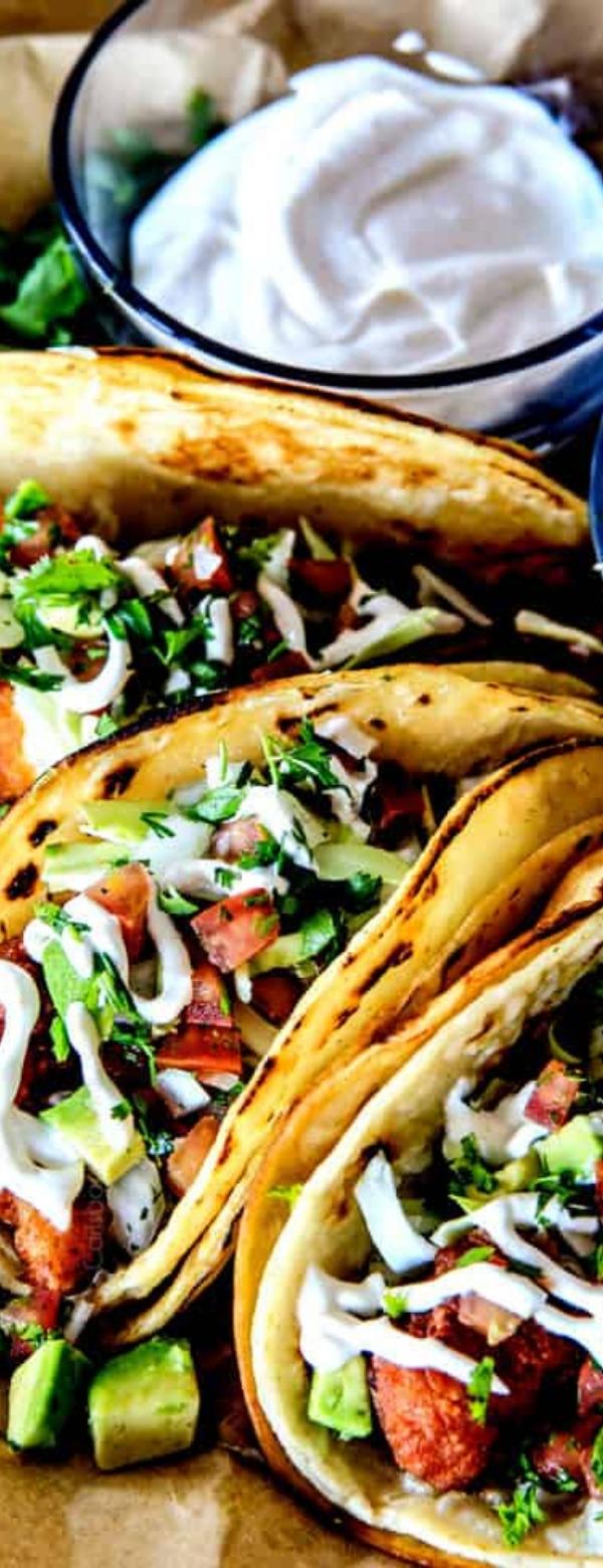 Crispy Baja Fish Tacos #fish #Tacos #seafood