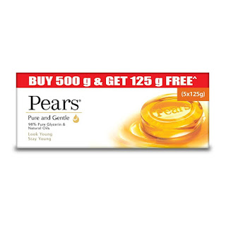 125g buy 4 Get 1 Free Pears Pure And Gentle Bathing Bar