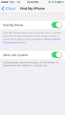 Cara Mengaktifkan iCloud dan Find My iPhone