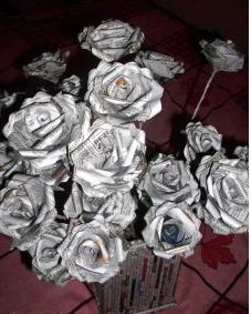 Yeppocraft Membuat Bunga Dari Kertas Koran
